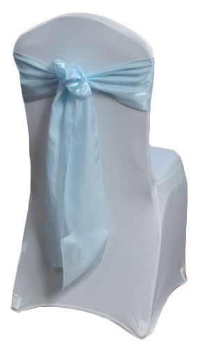 Light Blue Organza Satin Chair Sashes