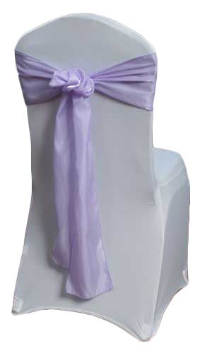 Lilac Organza Satin Chair Sashes Lilac Organza Satin Sash Rental