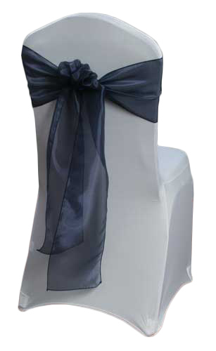 Navy Mirror Chair Sashes