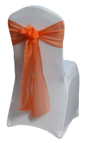 Orange Organza Sheer Sash Rental Orange Organza Sheer Sash Rental