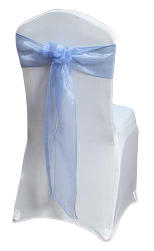 Periwinkle Mirror Chair Sashes