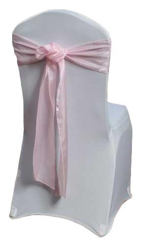 Pink Organza Satin Chair Sashes Pink Organza Satin Sash Rental