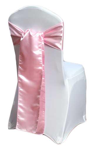 Pink Satin Chair Sashes Pink Polyester Satin Chair Sash Rental