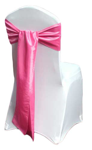 Pink Taffeta Chair Sashes