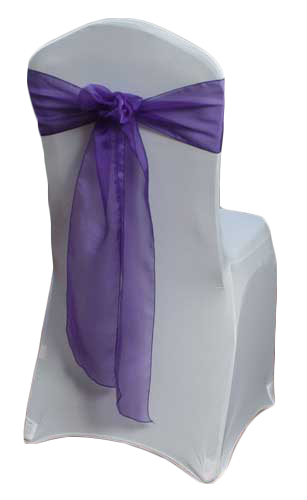 Purple Organza Sheer Chair Sashes