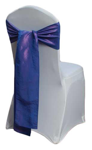 Purple Taffeta Chair Sashes Purple Taffeta Sash Rental