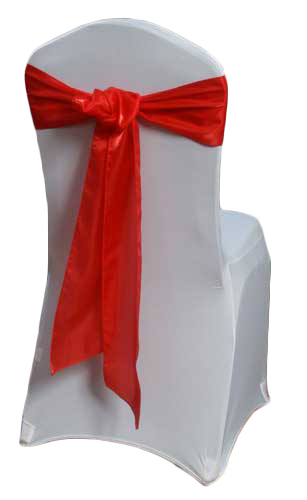 Red Organza Satin Chair Sashes Red Organza Satin Sash Rental