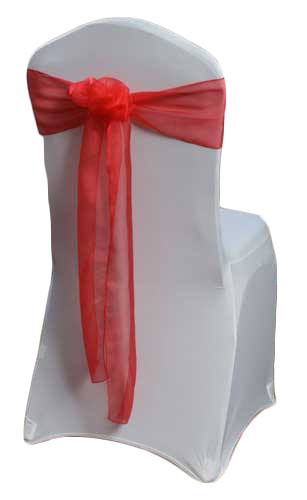 Red Organza Sheer Chair Sashes
