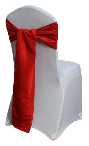 Red Taffeta Chair Sashes Red Taffeta Sash Rental