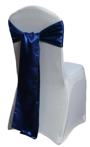 Royal Blue Satin Chair Sashes Royal Blue Polyester Satin Sash Rental