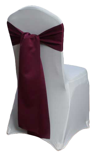 Sangria Matte Satin Chair Sashes Sangria Matte Satin Chair Sashes