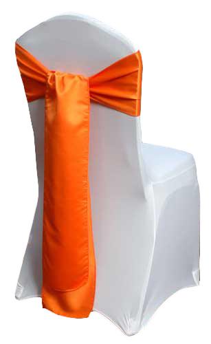 Tangerine Matte Satin Chair Sashes Tangerine Matte Satin Chair Sashes
