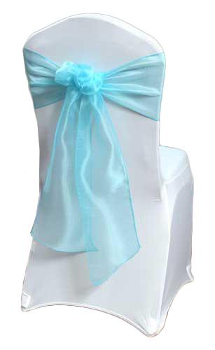 Tiffany Blue Mirror Chair Sashes Tiffany Blue Mirror Sash Rental