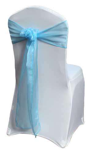 Turquoise Organza Sheer Chair Sashes Turquoise Organza Sheer Sash Rental