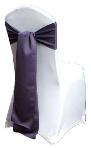 Victorian Lilac Matte Satin Chair Sashes Victorian Lilac Matte Satin Chair Sashes