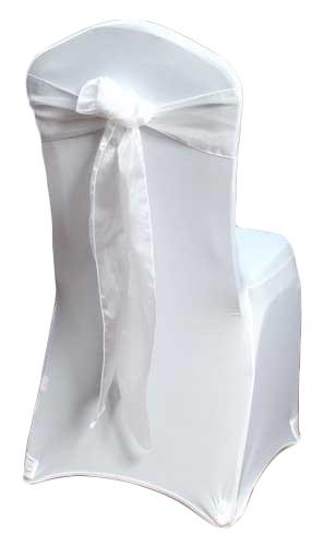 White Organza Sheer Chair Sash Rental White Organza Sheer Chair Sash Rental