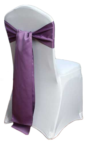 Wisteria Matte Satin Chair Sashes
