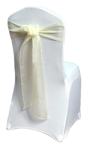 Yellow Organza Sheer Chair Sashes