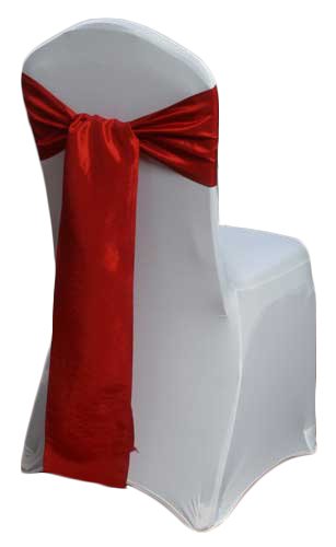 Apple Red Taffeta Chair Sashes Apple Red Taffeta Sash Rental