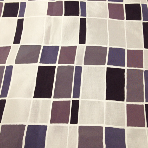 Mosaic over Charcoal Solid Polyester