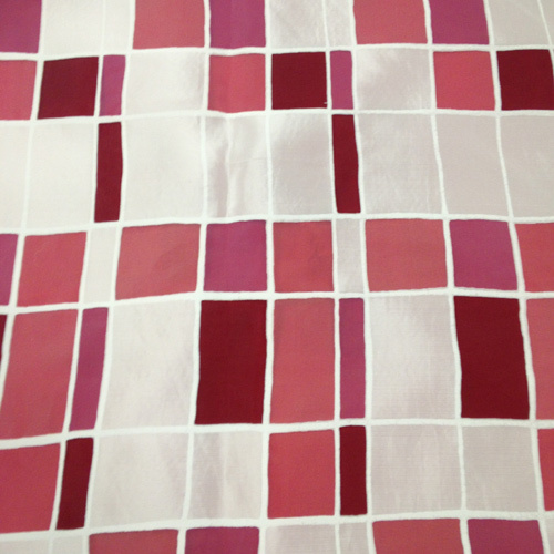 Mosaic over Fuchsia Solid Polyester