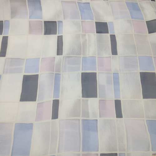 Mosaic over White Solid Polyester