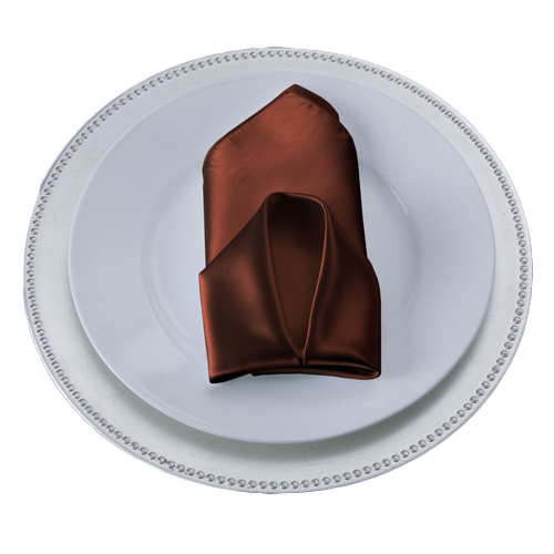 Copper Satin Napkins Copper Polyester Satin Napkin Rentals