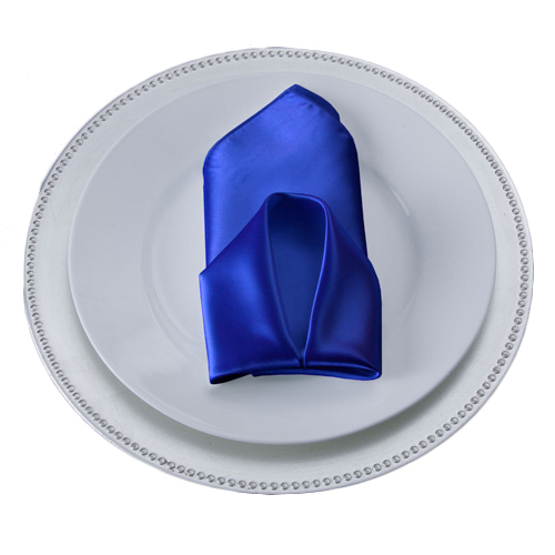 Royal Blue Satin Napkins Royal Polyester Satin Napkin Rental