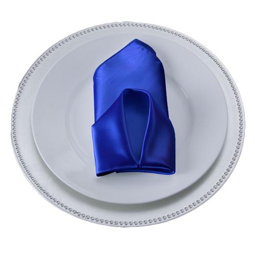 Royal Blue Satin Napkins