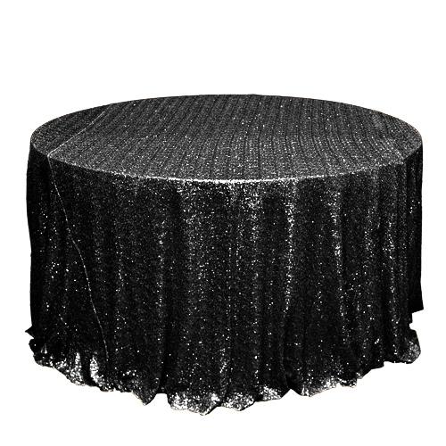 Black Sequin Tablecloth Rentals - Taffeta Black Sequin Tablecloth Rentals - Taffeta