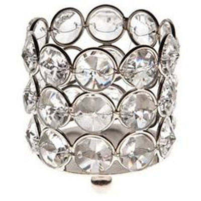 Small Crystal Gem Pillar Candle Holder Rental