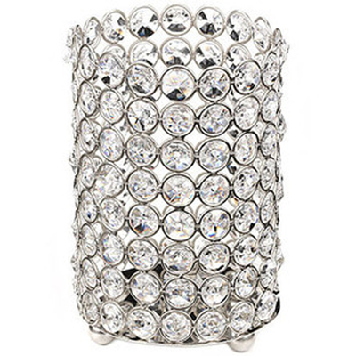 Large Crystal Gem Pillar Candle Holder Rental