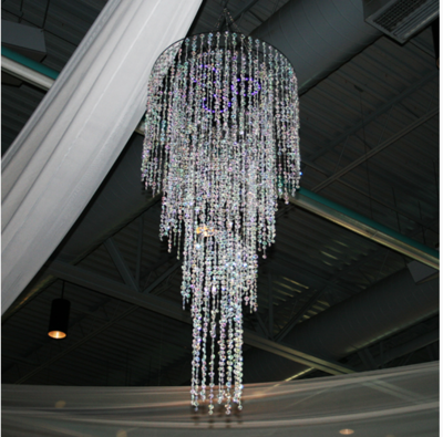 Tiffany Crystal 4 Tier Chandelier Rental