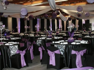 Black & White Damask Paper Lantern Rental