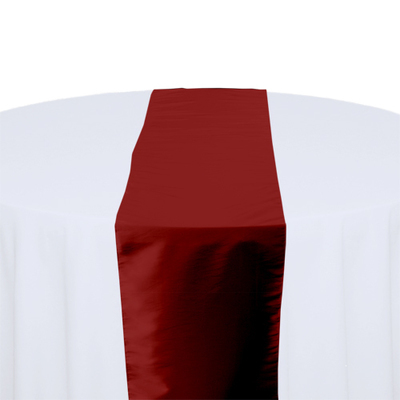 Apple Red Taffeta Table Runner Rental