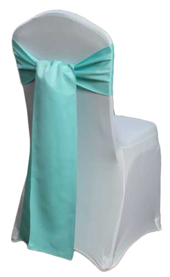 Aqua Matte Satin Chair Sashes