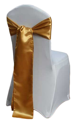 Gold Satin Chair Sash Rental