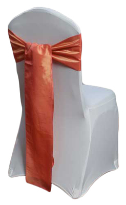 Coral Taffeta Chair Sashes