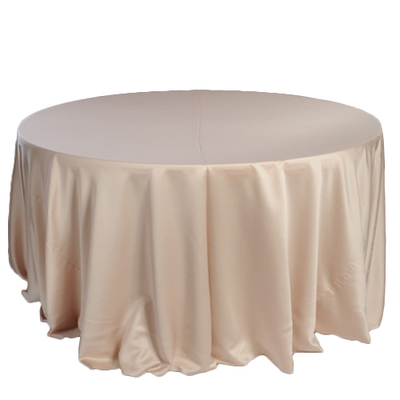 Champagne Lamour Matte Satin Tablecloth Rentals