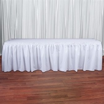 White Cottoneze Table Skirt Rental