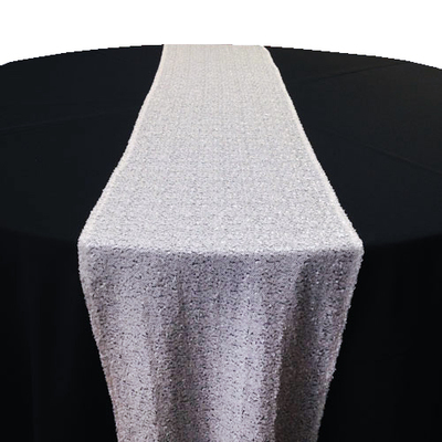 White Sequin Table Runner Rental