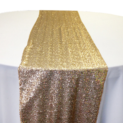 Gold Creative Sequin Table Runner Rental