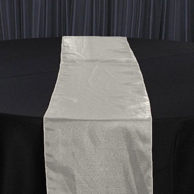 Ivory Organza Sheer Table Runner Rental