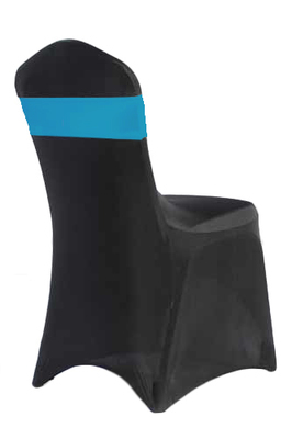 Aqua Spandex Chair Band Rental