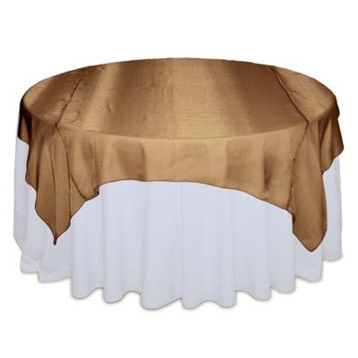 Cinnamon Sheer Table Overlay Rental