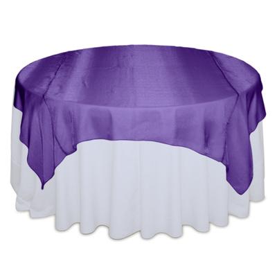 Purple Sheer Table Overlay Rental