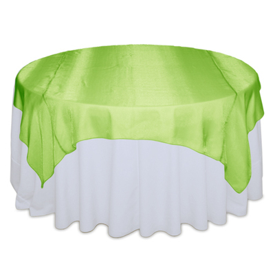 Lime Green Sheer Table Overlay Rental
