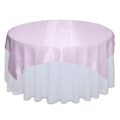 Light Pink Mirror Table Overlay Rental