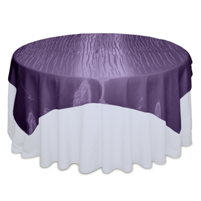 Eggplant Mirror Table Overlay Rental