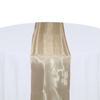 Champagne Mirror Table Runner Rental